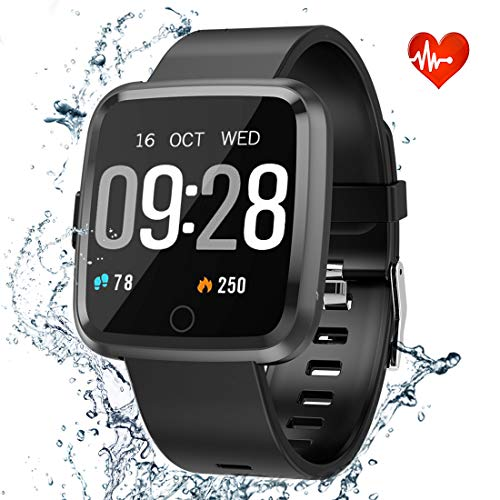 Fitness Tracker HR Activity Tracker, Heart Rate Monitor with Waterproof IP68 Smart Watch, 1.3 Color Screen Sleep Monitor Counter Calorie watch, fitness watches for women and smart watches for men