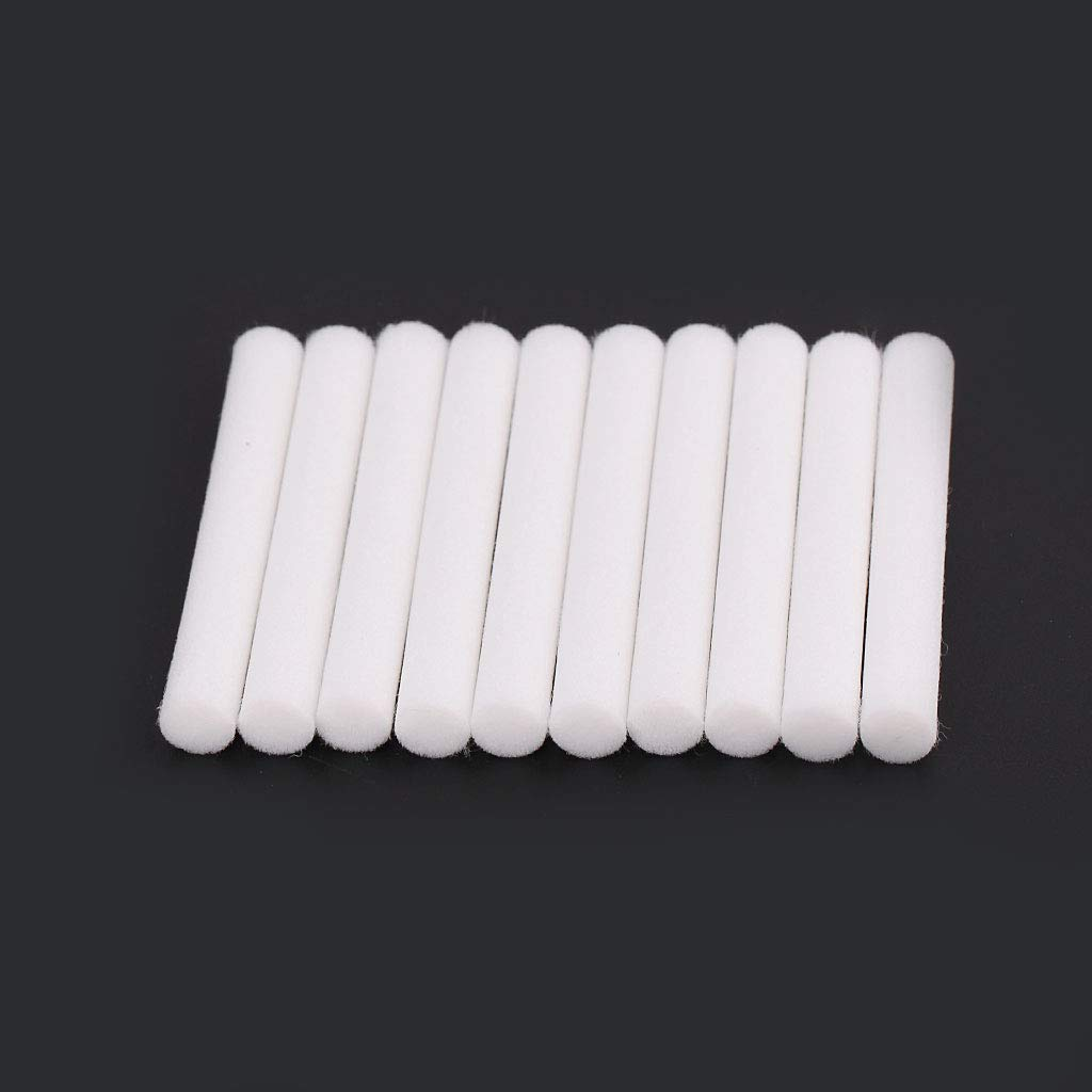 RGBIWCO - 10pcs Humidifiers Replacement Filters,Cotton Swab for USB Air Ultrasonic Humidifier Diffuser Filter 8mmx64mm
