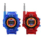 Walkie Talkie, 2PCS Digital Wrist Watch Kids Military Pretend Toy Long Range Play