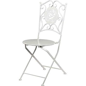 HG Chaise Mtal Blanc Design Rose 53 X 40 90 Cm