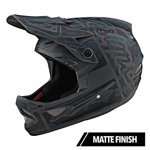 Troy Lee Designs Adult Full Face | BMX | Downhill | D3 Fiberlite Factory Mountain Biking Helmet with MIPS (Large, Camo Green)
