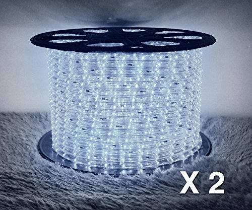 Boshen LED Rope Strip Lights for Home Parties Weddings Christmas Decoration, 36 LEDs/M 110V Flexible Rainbow Tube Light Water Resistant for Indoor Outdoor Use (Cuttable Every 3 Feet) by Boshen