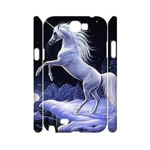Unicorn CUSTOM 3D Hard Case for Samsung Galaxy Note 2 N7100 LMc-36543 at LaiMc
