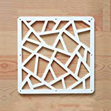 decorating dining room Y-Step Hanging Room Divider, 12pcs Wood-Plastic Partition Screen Panels with Butterfly Flower for Decorating Home, Dining Room, Sitting Room, Hotel - White (A)