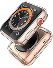 Julk Series 3 38mm Case for Apple Watch Screen Protector, Overall Protective Case TPU HD Clear Ultra-Thin Cover for Apple Watch Series 3 (38mm)(2-Pack)