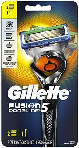 Gillette Fusion5 ProGlide Men's Razor, Handle & 2 Blade Refills (Packaging May Vary)