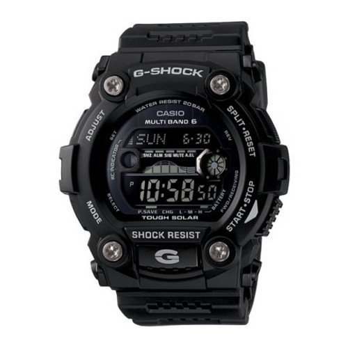200m Watch World Time G-shock (Casio Men's GW7900B-1 G-Shock Black Solar Sport Watch)