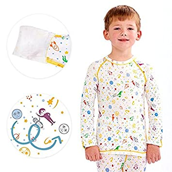 c26642eeaa Itch Relief Eczema Shirt – Children s Pajama Top with No Scratch Mitts for  Moderate to Severe