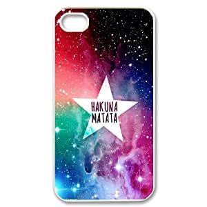 James-Bagg Phone case Hakuna Matata Quotes,Lion King Protective Case For Iphone 4 4S case cover Style-16