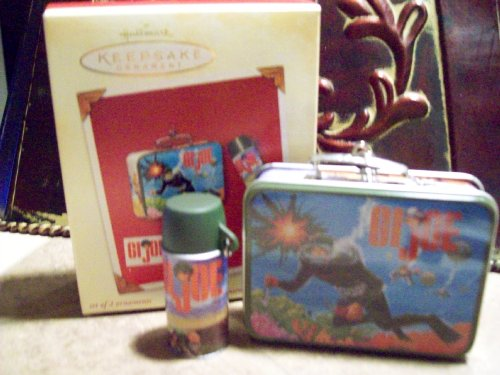 Hallmark Keepsake G.I. Joe 2002 Lunchbox Christmas Ornament Set