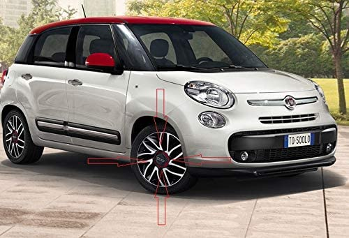 Embellecedor 1 dise/ño de rueda de FIAT 500 500L borde de color rojo dise/ño con el logo de Llanta de aleaci/ón 135 mm