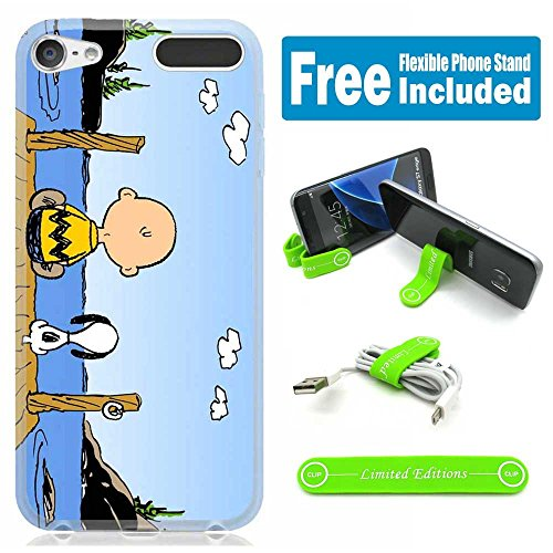 (Apple iPod Touch 5th/6th Generation Case Cover Skin with Flexible Stand - Snoopy Budu)