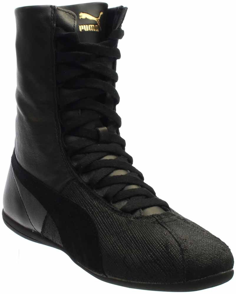 PUMA Eskiva Hi Remaster Women Round Toe Synthetic Black Sneakers B01A82DJJ8 9.5 B(M) US|Puma Black/Puma Black