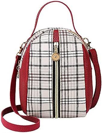 حقيبة ظهر نسائية منقوشة المرقعة عارضة سستة حقيبة ظهر حلوة ليدي