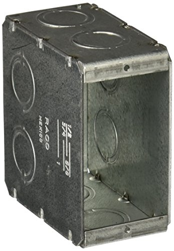 - Hubbell-Raco 8695 3-1/2-Inch Deep 1 Gang Welded Masonry Electrical Box with (8) Concentric Knockouts, 3-3/4-Inch 1-31/32-Inch