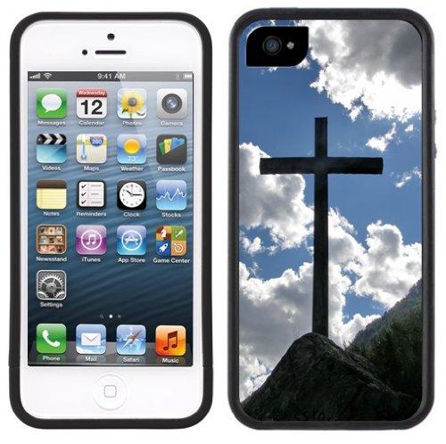 Kreuz | Christlich | Handgefertigt | iPhone 5 5s | Schwarze Hülle