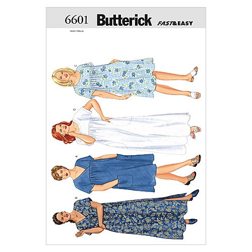 Butterick Patterns B6601 Women's/Women's Petite Dress, Size (Butterick Craft Pattern)