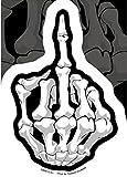 "Hot Leathers DCA1201 Multi Color 4"" x 6"" Skeleton Finger Decal"