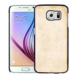 NEW Unique Custom Designed Samsung Galaxy S6 Phone Case With Old Notebook Lockscreen_Black Phone Case