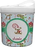 Christmas Monkeys Plastic Ice Bucket (Personalized)