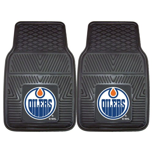 Fanmats 10389 NHL Edmonton Oilers Front Row Vinyl Heavy Duty Car Mat - 2 Piece