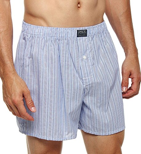 Polo Ralph Lauren Connoisseur 100% Cotton Woven Boxer (R169) L/Andrew Stripe