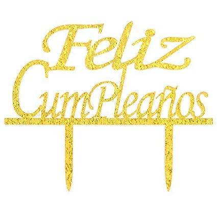 Amazon.com: restore2a Feliz Cumpleaños Cake Topper - Happy ...
