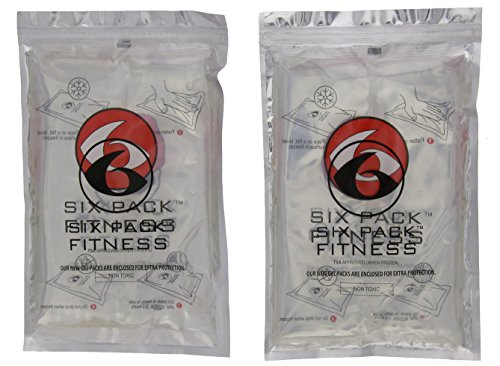 6 Pack Fitness Large Gel Pack - Set of 2 (Clear)