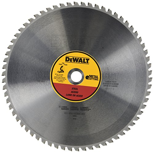 14 Inch 100 Tooth - DEWALT 14-Inch Metal Cutting Blade, Ferrous Metal Cutting, 66-Tooth (DWA7747)