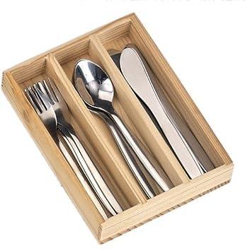 Cubertería de acero inoxidable, 12 piezas Caja de madera
