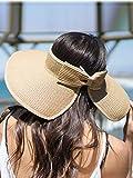 Simplicity Women's Summer Foldable Straw Sun