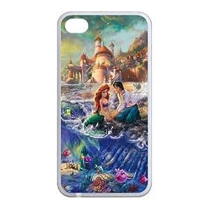 Customize Cartoon Little Mermaid Back Case for iphone4 4S JN4S-1608