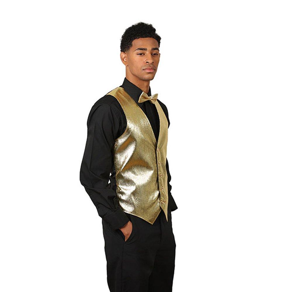 SixStarUniforms Mens Gold Lurex Vest