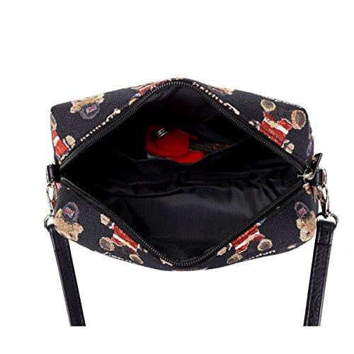 de viaje Londres la Acrossbody la tapicería mujeres Bolso de SIGNARE de las de moda de la cadera del Oso B6wxFqf