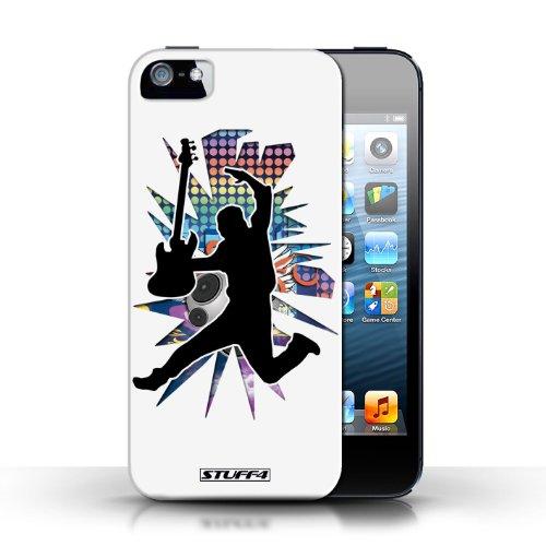 Etui / Coque pour Apple iPhone 5/5S / Saut Blanc conception / Collection de Rock Star Pose