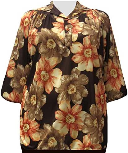 A Personal Touch Cocoa Garden Women's Plus Size Top