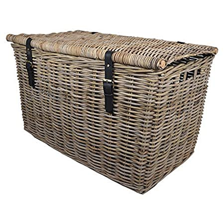 Kubu Rattan Extra Large Storage H&er W93 x D58 x H58cm/Trunk/Basket/  sc 1 st  Amazon UK & Kubu Rattan Extra Large Storage Hamper W93 x D58 x H58cm/Trunk ...