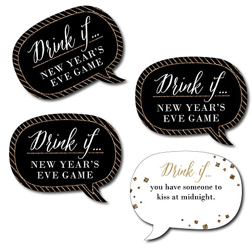 Drink If Talk Bubble Game - New Year's Eve Party Game - 24 (New Years Drinks)