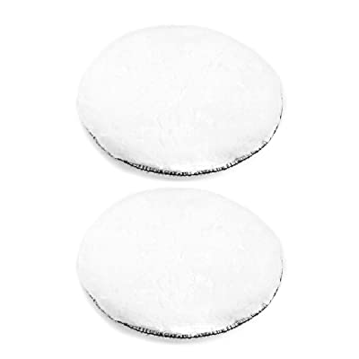 uxcell 7-Inch Wool Polishing Pad Hook and Loop Buffing Wheel for Polisher and Buffer 2 Pcs: Home Improvement