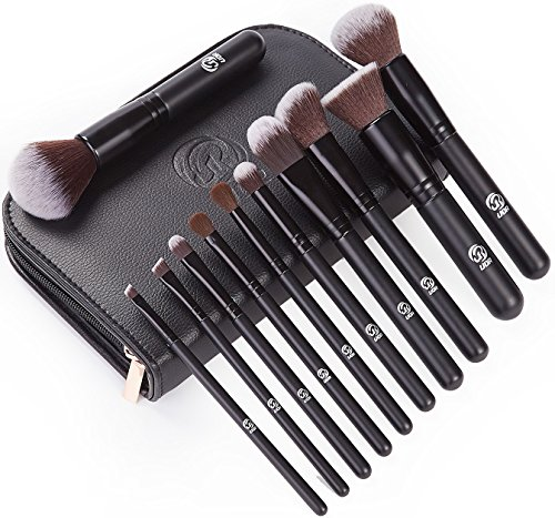 11pcs/set Bamboo make up brush tool kit - 4