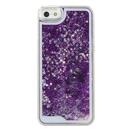 Dark Purple Case (Shopping_Shop2000® Sparkly Bling Stars and Glitter Flowing Liquid Water Aqua Movable Dynamic Hard Cover Case For iphone 6 (4.7