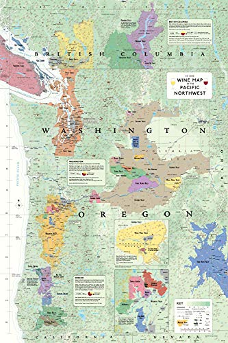 (De Long Wine Map of The Pacific Northwest)