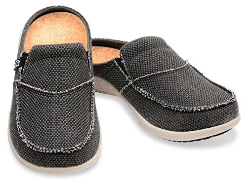 Spenco Women's Siesta Slide Mule, Charcoal Grey, 8 M US