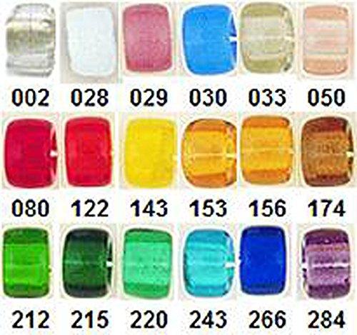 #253 Pale Blue Transparent Czech Glass Crow Beads-9mm 100pk