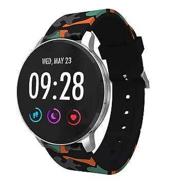 TechCode Relojes inteligentes,Monitor de ritmo cardíaco Rastreador de actividad Bluetooth Podómetro con monitor de