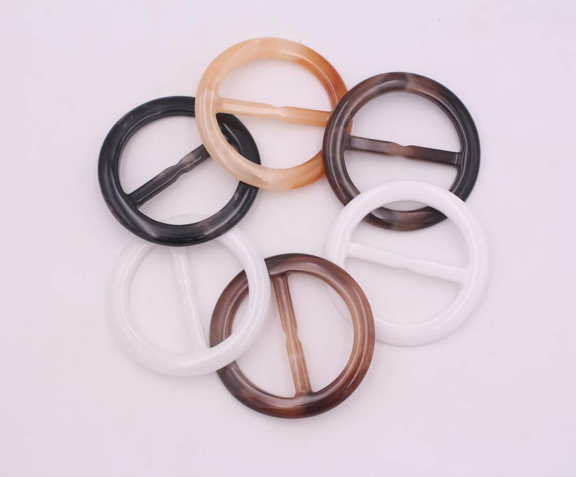 50 Pcs Fashion Plastic Oval Scarf Ring Wrap Holder for DIY Jewelry Making