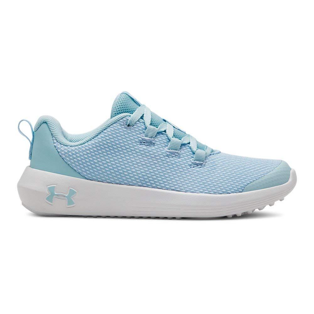 Under Armour Girls' Pre School Ripple Sneaker, Coded Blue (300)/White, 1 M US Little Kid