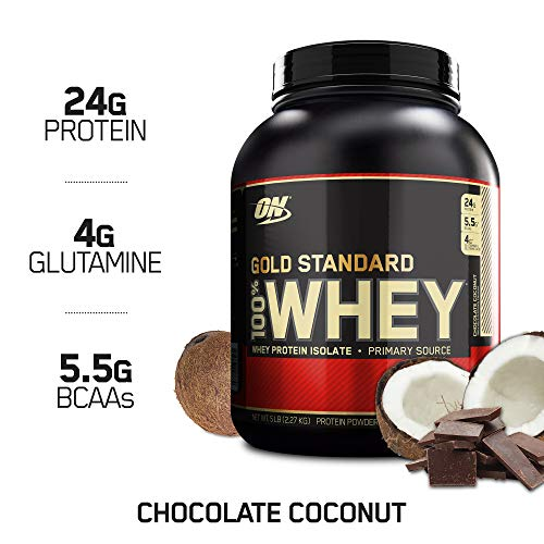 (OPTIMUM NUTRITION GOLD STANDARD 100% Whey Protein Powder, Chocolate Coconut, 5 Pound)