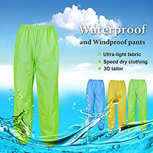 West Biking Cycling Reflective Rain Pants - Lightweight Breathable Sprinkle Waterproof Windproof Windbreaker Bike Bicycle Poncho Pants for Outdoor Sports