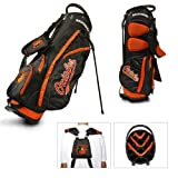 Team Golf MLB Baltimore Orioles Fairway Golf Stand Bag, Lightweight, 14-way Top, Spring Action Stand, Insulated Cooler Pocket, Padded Strap, Umbrella Holder & Removable Rain Hood